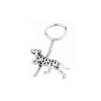 Portachiavi argento cane