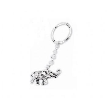 Portachiavi argento elefante