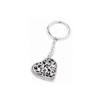 Portachiavi argento cuore
