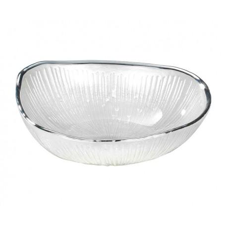 Ciotolina bomboniera vetro con deposito argento Zen Bianco Perla
