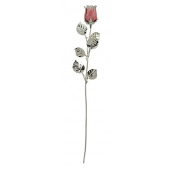 silver plated rose 1/BG...