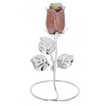 Rosa Argentata Bomboniera Rosa