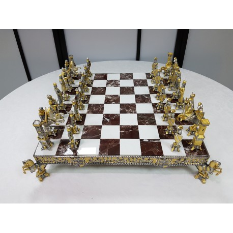 Silver Chess and chessboard