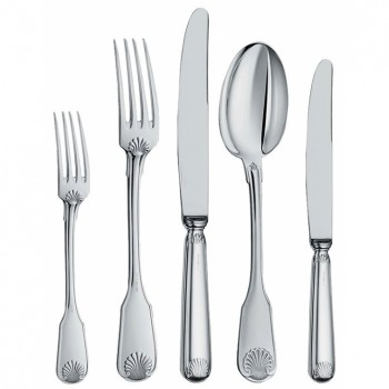 SILVER CUTLERY SHELL STYLE 3/P