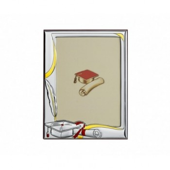 Cornice laurea laminata argento 85/F art. 6260LB