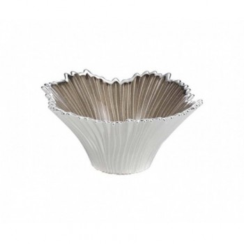 Ciotolina bomboniera vetro con deposito argento Mod. 5/P art. 0.02196