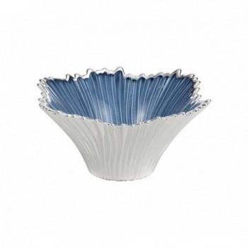 Ciotolina bomboniera vetro con deposito argento Mod. 5/P art. 0.02197