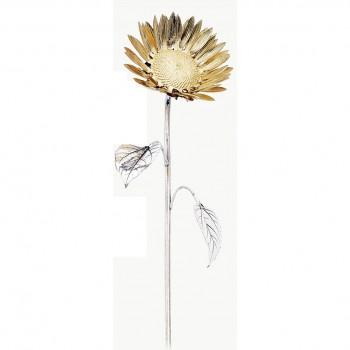 Girasole argento cm. 48,5
