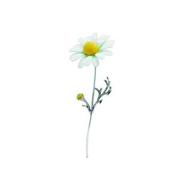 Fiore Camomilla argento cm. 9