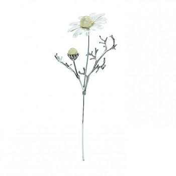 Fiore Camomilla argento cm. 11