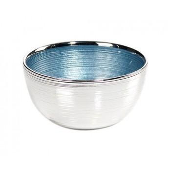 Ciotolina bomboniera vetro con deposito argento Mod. 5/P art. 0.01541
