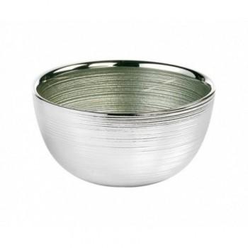 Ciotolina bomboniera vetro con deposito argento Mod. 5/P art. 0.01836