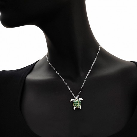 Collana argento tartaruga