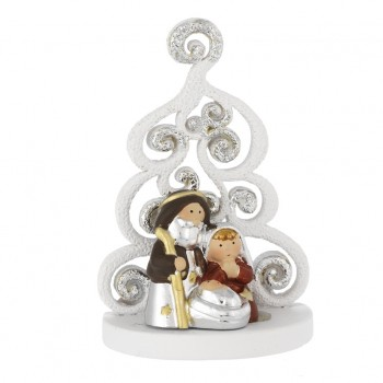 Santa Claus silver resin
