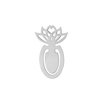 Segnalibro Argento Fiore Loto