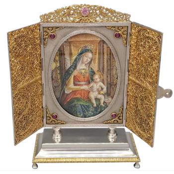 SIlver Portal Virgin Mary...