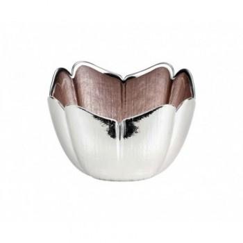 Ciotolina bomboniera vetro con deposito argento Mod. 5/P art. 0.02253