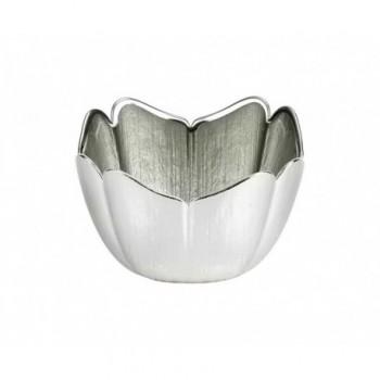 Ciotolina bomboniera vetro con deposito argento Mod. 5/P art. 0.02257