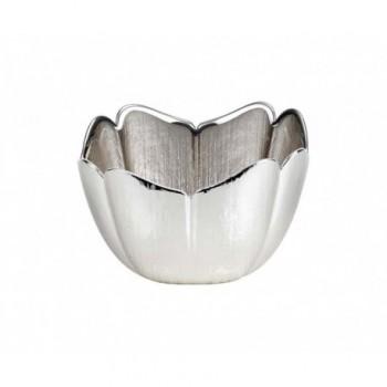 Ciotolina bomboniera vetro con deposito argento Mod. 5/P art. 0.02249