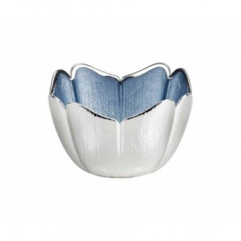 Ciotolina bomboniera vetro con deposito argento Mod. 5/P art. 0.02250