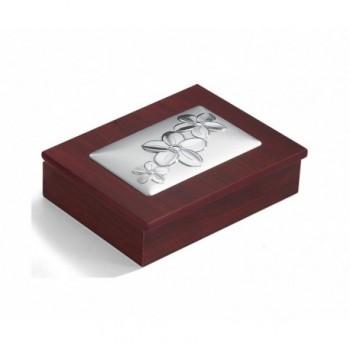 scatola legno Bilaminato argento 85F 1674