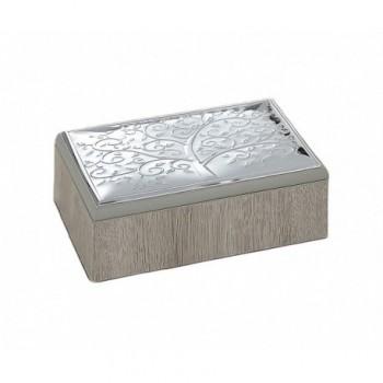 scatola legno Bilaminato argento 85F 1861
