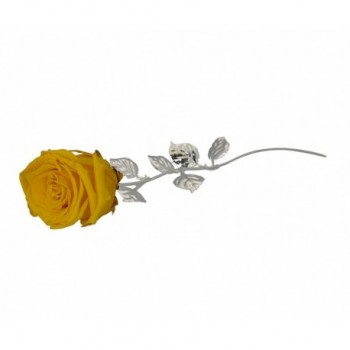 Rosa naturale con stelo e foglie argentate Mod. 1/BG art. 1899-30 GI