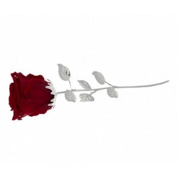 Rosa naturale con stelo e foglie argentate Mod. 1/BG art. 1899-30 RO