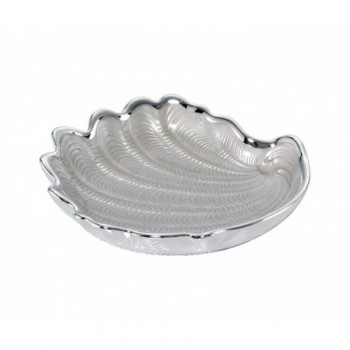 Ciotolina bomboniera vetro con deposito argento Mod. 5/P Art. 0.02060
